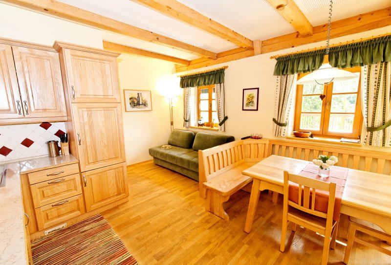 Wohnküche in der Ferienwohnung