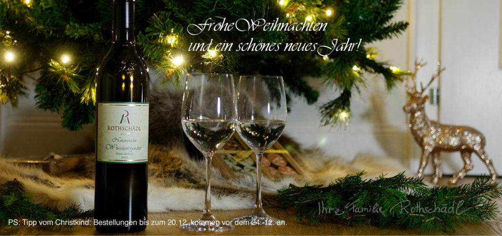 Frohe Weihnachten und ein gutes neues Jahr wünscht Ihnen Ihre Familie Rothschädl vom Weingut Rothschädl aus der Südsteiermark.