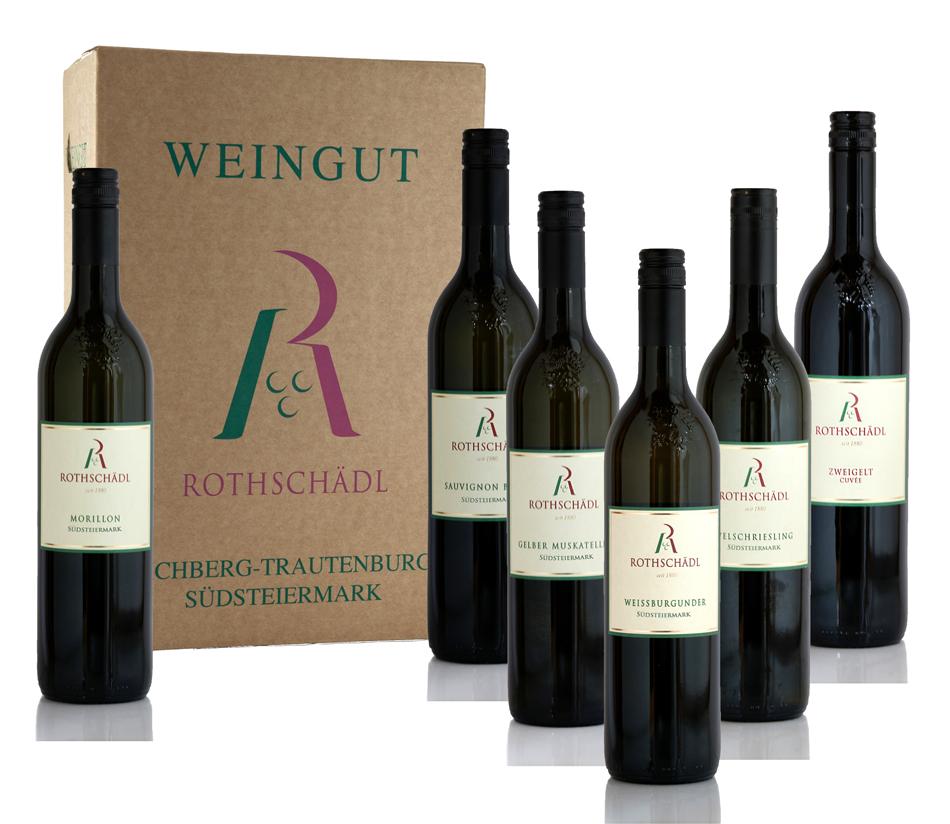 Weinpaket mit 6 Flaschen Lagenwein